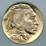 1938 D Buffalo Nickel Choice B.U. MS-65