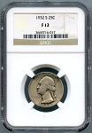 1932 S Washington Quarter NGC F-12