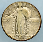 1927 S Standing Quarter Very Good +