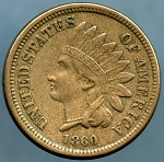 1860 Indian Cent Choice XF-40