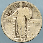 1927 S Standing Quarter Very Good