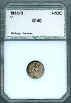 1861/0 Seated Half Dime PCI XF-40