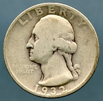 1932 S Washington Quarter Fine