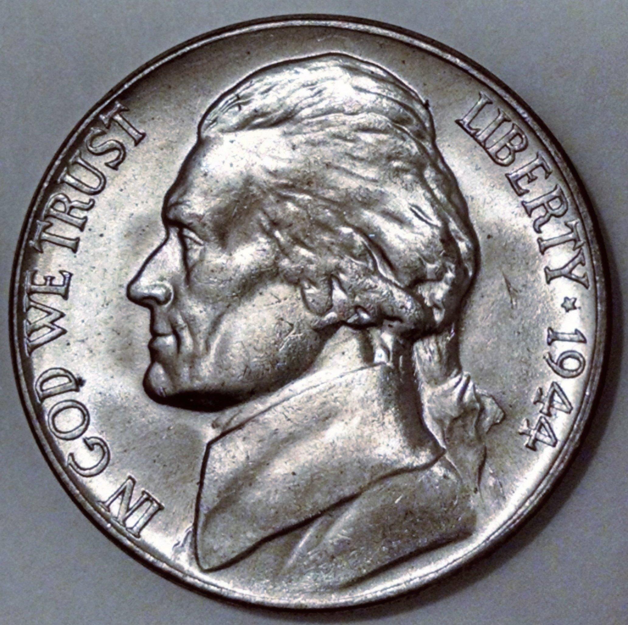 1944 Jefferson Nickel MS 63
