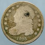 1835 Bust Dime Good / About Good