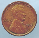 1915 Lincoln Cent XF 40 details pock marks obverse