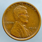 1918 D Lincoln Cent XF details spots on reverse