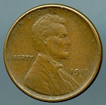 1919 S Lincoln Cent XF 40 details spot reverse
