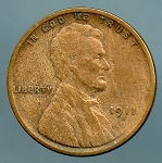 1911 S Lincoln Cent Fine details cleaned