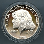 1995-P Special Olympics  Silver Dollar - Impaired Proof