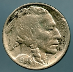 1914 Buffalo Nickel VF details cleaned and lightly corroded