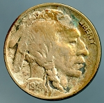 1924 D Buffalo Nickel VF details corroded
