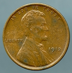 1912 Lincoln Cent XF 45 details light spots obverse