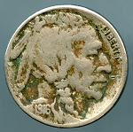 1916 S Buffalo Nickel VF 20 plus details corroded