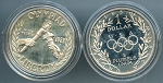 1988-S Proof Olympic Commemorative Silver Dollars - in Capsule only - Poor Handling
