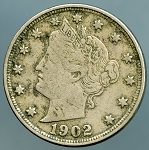 1902 Liberty Nickel Lightly corroded