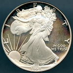 1992-S Proof Silver American Eagle - Impaired Proof