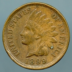 1899 Indian Cent XF 40 spot obverse