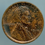 1918 D Lincoln Cent XF 45 details discolored