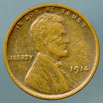 1914 Lincoln Cent XF 40 cuts obverse