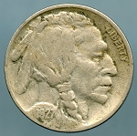 1927 S Buffalo Nickel Fine light corrosion on reverse