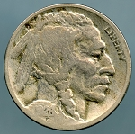 1926 D Buffalo Nickel VG cleaned