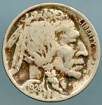 1924 D Buffalo Nickel Fine details light corrosion