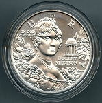 1999-P Dolley Madison Commemorative Silver Dollar - Uncirculated - In Mint Capsule only.
