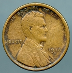 1918 S Lincoln Cent XF details lightly cleaned
