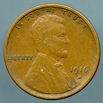 1916 S Lincoln Cent XF details light blemishes