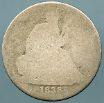 1838 Seated Dime AG/ Blank
