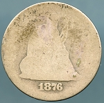 1876 Seated Quarter Cull