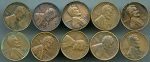 1931 D Lincoln Cents 10 piece lot CULLS