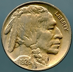 1926 Buffalo Nickel XF details cleaned