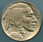 1925 Buffalo Nickel VF details cleaned