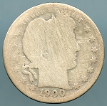 1900 S Barber Quarter Cull