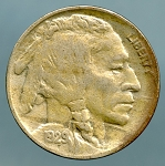 1929 Buffalo Nickel XF details lightly discolored