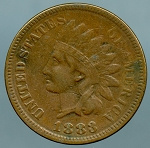 1883 Indian Cent VF details light cuts obverse