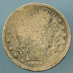1907 Barber Quarter CULL