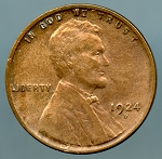 1924 D Lincoln Cent VF details cleaned