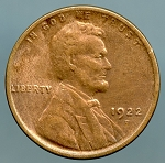 1922 D Lincoln Cent VF details cleaned