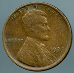 1922 D Lincoln Cent XF details dark