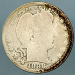 1898 S Barber Quarter CULL