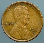 1915 S Lincoln Cent VF details light corrosion obverse