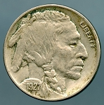1927 Buffalo Nickel XF details  light corrosion