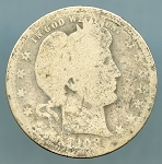 1908 Barber Quarter CULL