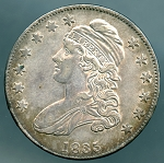 1835 Bust Half Dollar Choice AU-55 Plus