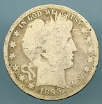 1895 Barber Half Dollar About Good