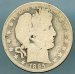 1895 O  Barber Half Dollar About Good