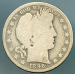 1896 Barber Half Dollar About Good